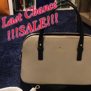 ♠️Kate Spade ♠️beige/black satchel bag NWT